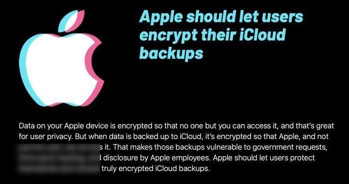 EFF 呼吁蘋果讓用戶自己加密 iCloud 備份 網絡推廣哪個好