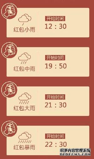 红包雨时间
